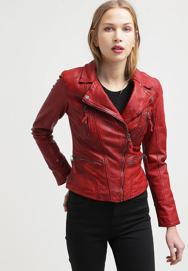 CAMERA - Leather jacket - red