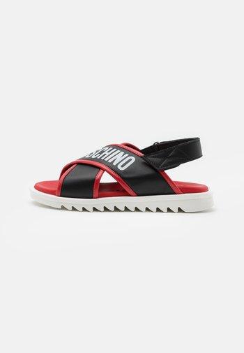 UNISEX - Sandali - black/red
