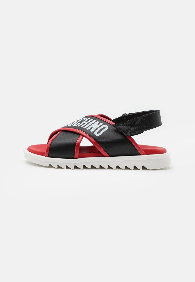 MOSCHINO - UNISEX - Sandals - black/red