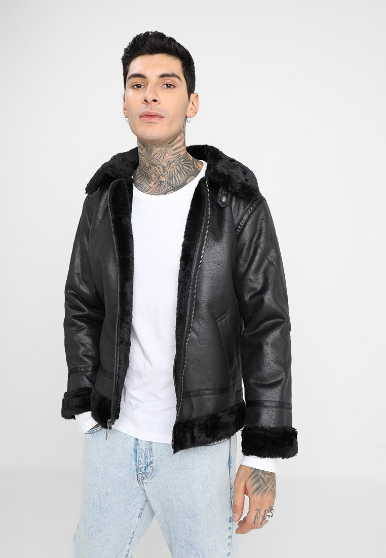 Alpha Industries - Faux leather jacket - black