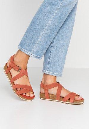 MALIBU WAVES ANKLE - Sandals - rust