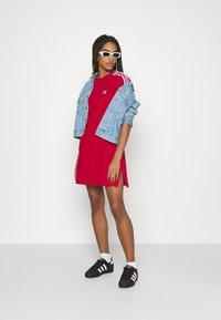 adidas Originals - TEE DRESS - Jersey dress - scarlet - 1