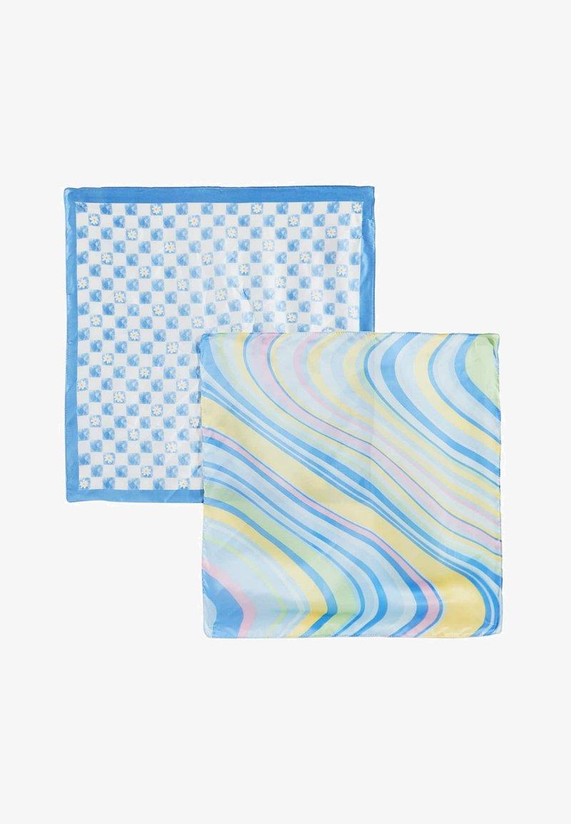 Stradivarius - MIT TUPFEN UND STREIFEN  - Foulard - mottled blue