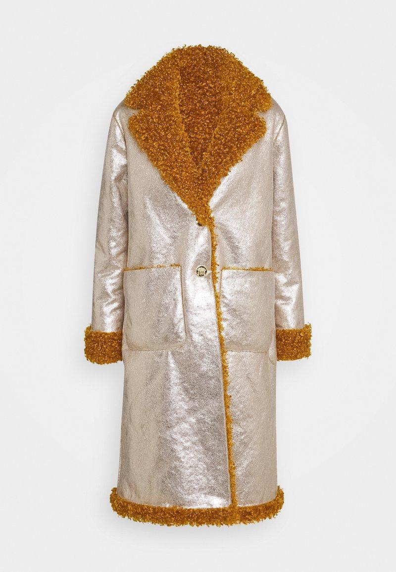 Pinko - DRACO COAT - Classic coat - senape/oro chiaro