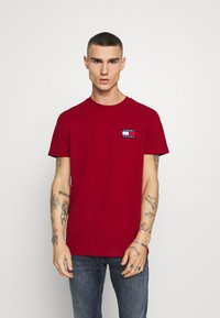 Tommy Jeans - BADGE TEE - Basic T-shirt - wine red - 0