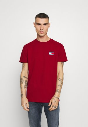 BADGE TEE - Basic T-shirt - wine red