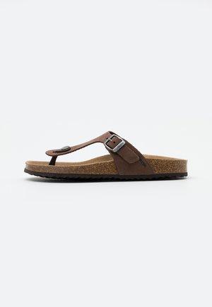 BRIONIA - T-bar sandals - coffee