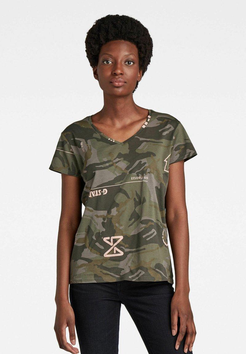 G-Star - CAMO TYPE - T-shirt print - camo