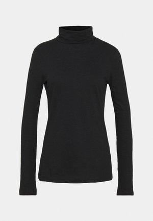 LONG SLEEVE SLEEVE TURTLE NECK - Long sleeved top - black