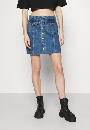 ONLLAGUNA LIFE BUTTON SKIRT - Mini skirt - medium blue denim