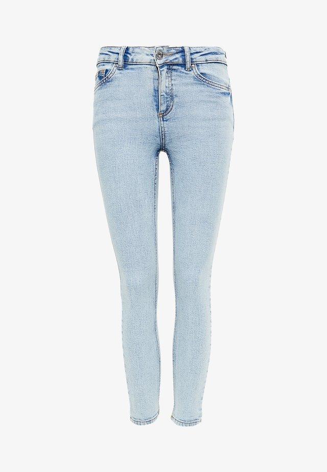ACID WASH MID RISE - Jeans Skinny Fit - lightbluedenim