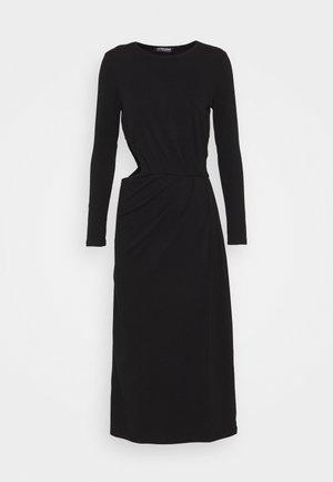 SHOOT DRESS - Žerzejové šaty - black