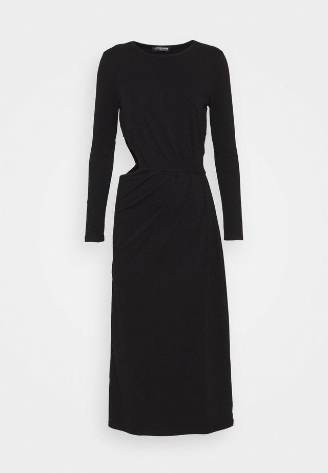 SHOOT DRESS - Sukienka z dżerseju - black