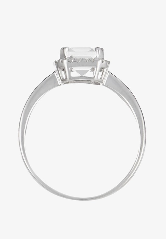 WHITE GOLD RING 9K CERTIFIED TOPAZ 2.02 CTS AND 26 DIAMONDS HP1 0.08 CT - Bague - white
