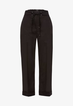 DAMEN HOSE VERKÜRZT - Trousers - black