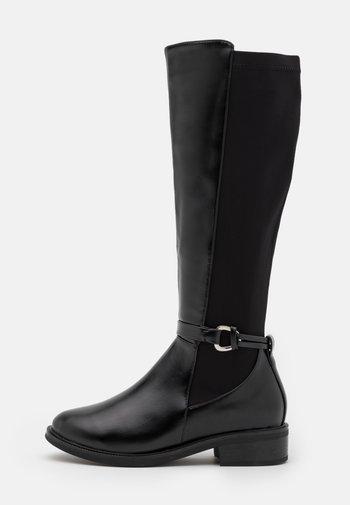WIDE FIT - Vysoká obuv - black