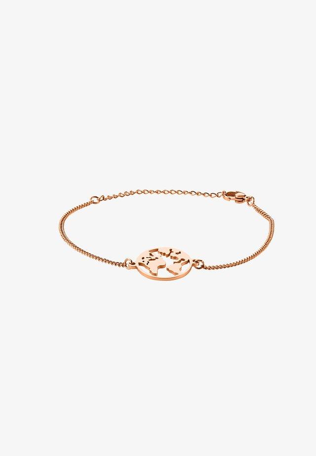 WELTKUGEL GLOBUS - Bracelet - rose gold-coloured