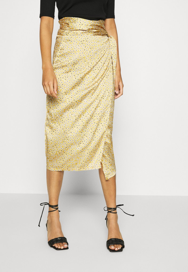 Never Fully Dressed - JASPRE DITSY PRINT SKIRT - Jupe portefeuille - gold