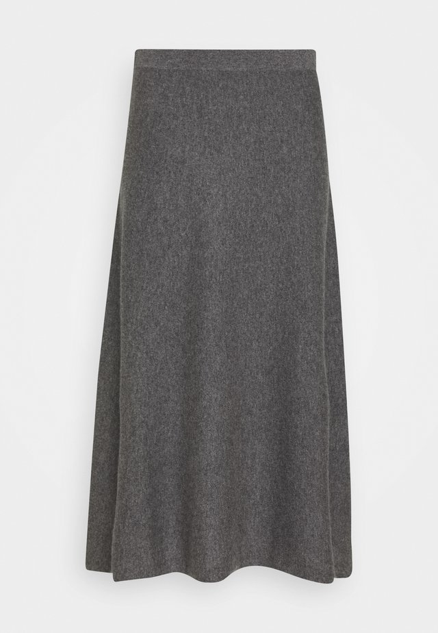 SKIRT - A-line skirt - med grey