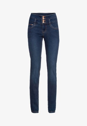 MIT HOHER TAILLE  - Jeans Skinny Fit - blau