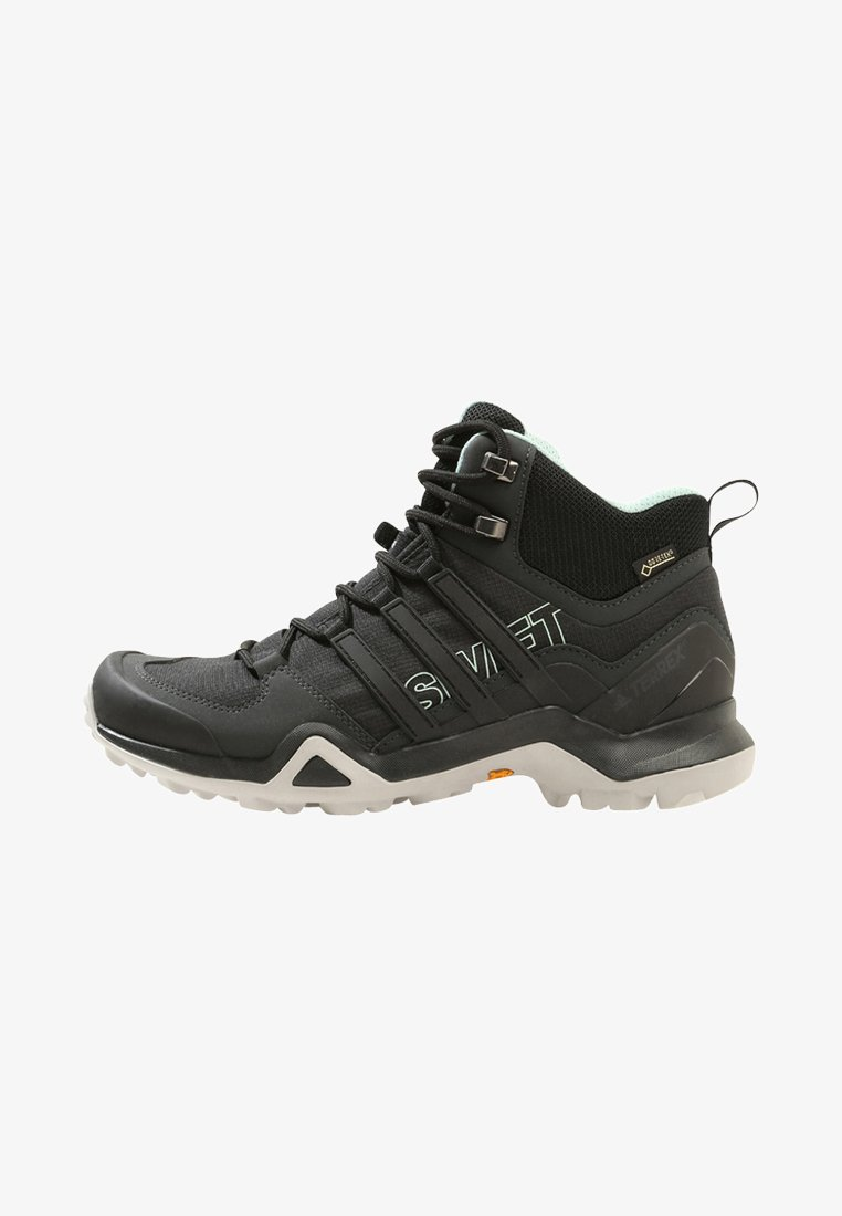 adidas Performance - TERREX SWIFT R2 MID GORE-TEX - Hiking shoes - core black/ash green