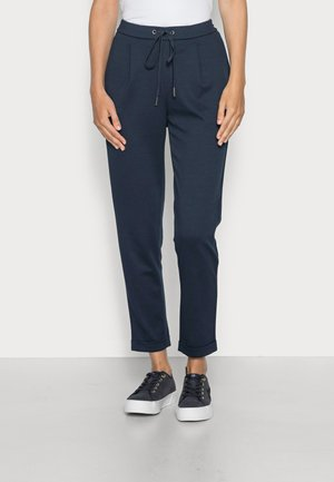 PIQUE JOGGER - Trousers - navy