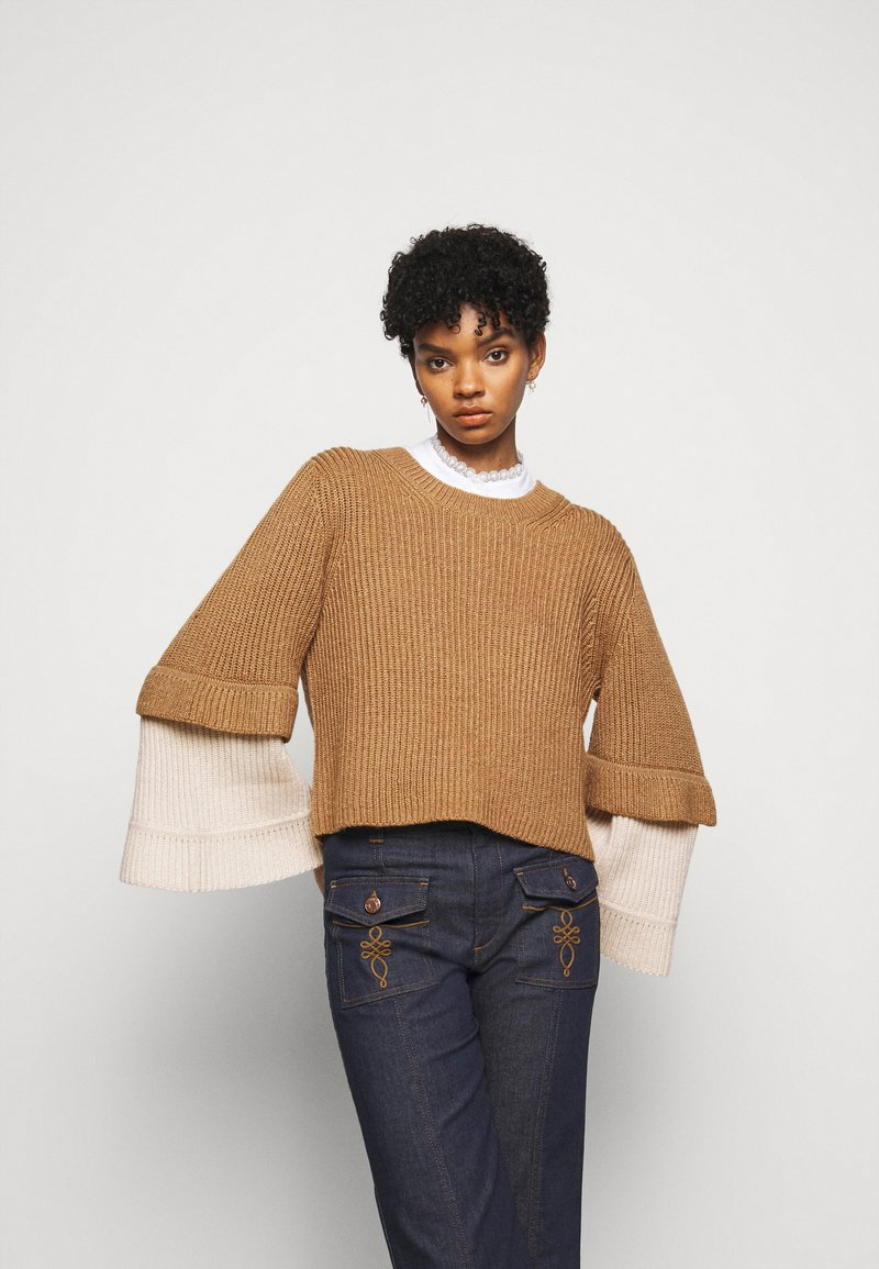See by Chloé - Jumper - brown/white