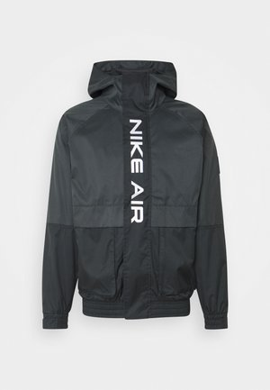AIR  - Summer jacket - black/dark smoke grey/white