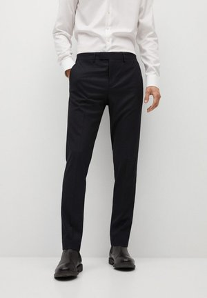 VEGAS - Suit trousers - schwarz