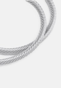 Burton Menswear London - TWISTED CUFF 2 PACK - Armband - silver-coloured - 2