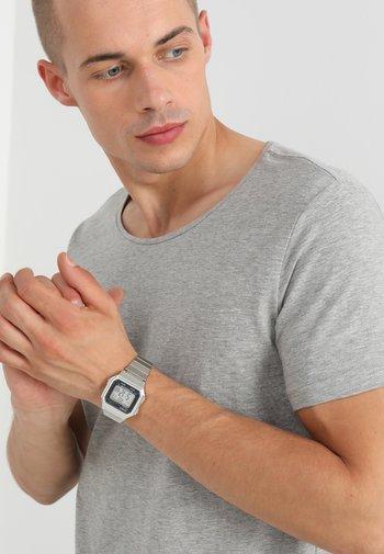 Digital watch - silver-coloured/black