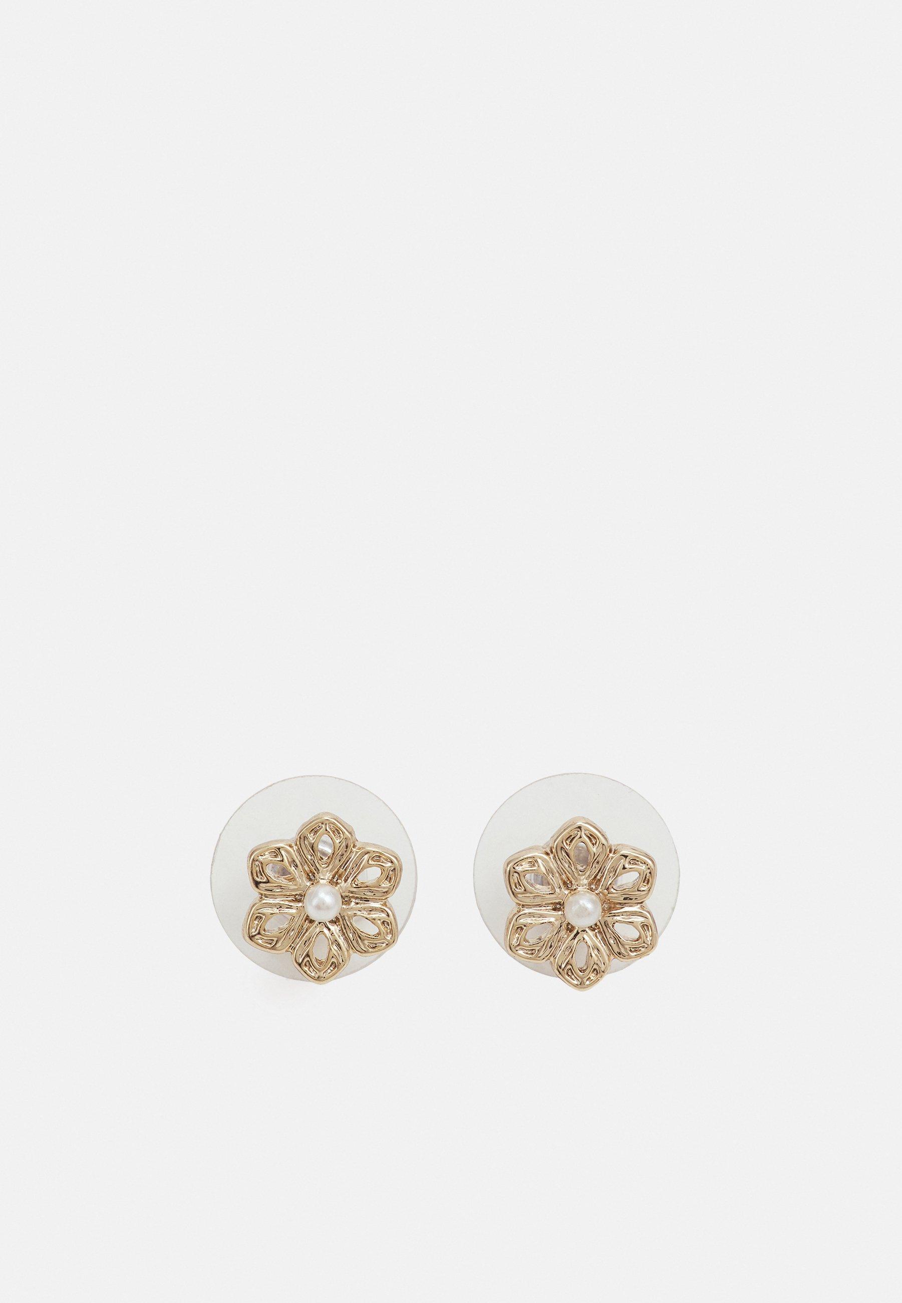 Women FLOWER BUTTON - Earrings