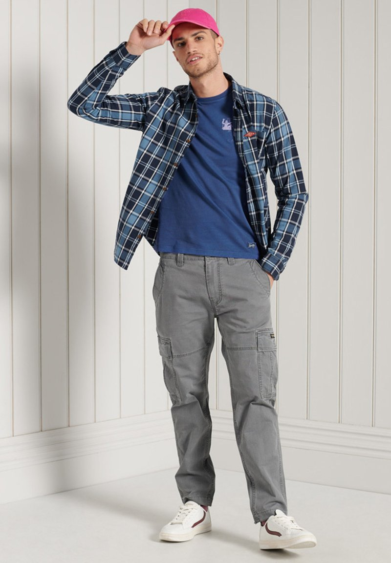Superdry - Cargo trousers - naval grey