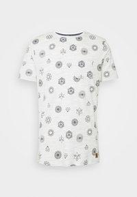 PORTAL - Print T-shirt - ecru/navy
