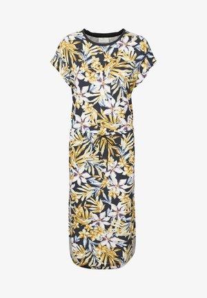 BPGUNILLA - Jersey dress - black - yellow/purple flower