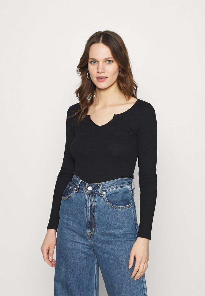 Zign - Long sleeved top - black