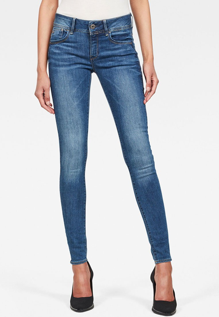 G-Star - MID SKINNY  - Jeans Skinny Fit - faded blue