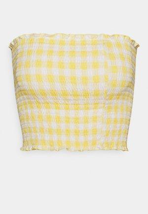 REVERSIBLE TUBE  - Topper - yellow plaid