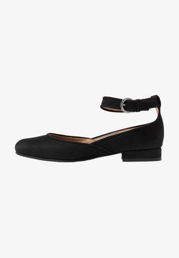 LEEN - Ankle strap ballet pumps - black