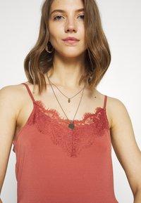 Vero Moda - VMDITTA SINGLET ANCLE DRESS - Maxi dress - marsala - 5