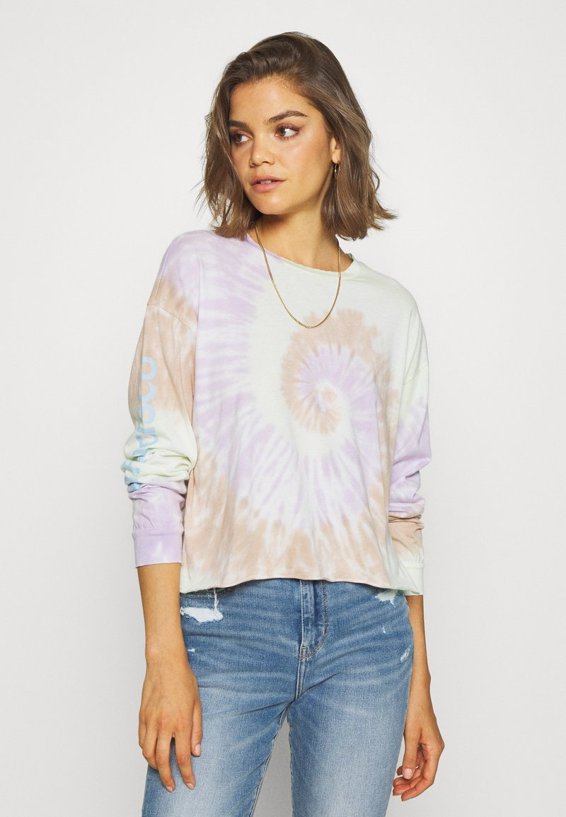 American Eagle - TIE DYE LONG SLEEVE COVE TEE - Long sleeved top - multi