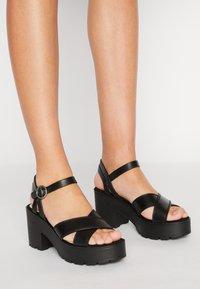 mtng - EMELINE - Platform sandals - black - 0