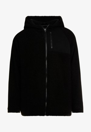 HOODED ZIP JACKET - Fleecejas - black