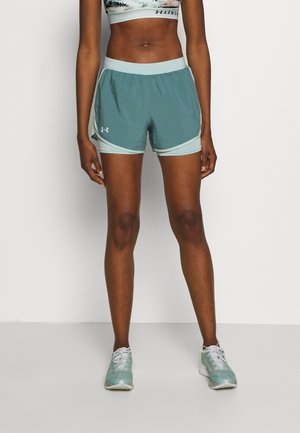 FLY BY - kurze Sporthose - lichen blue