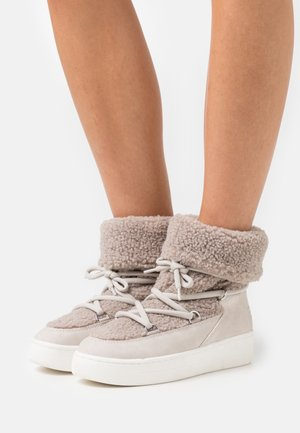 BOLOGNA  - Lace-up ankle boots - cream beige