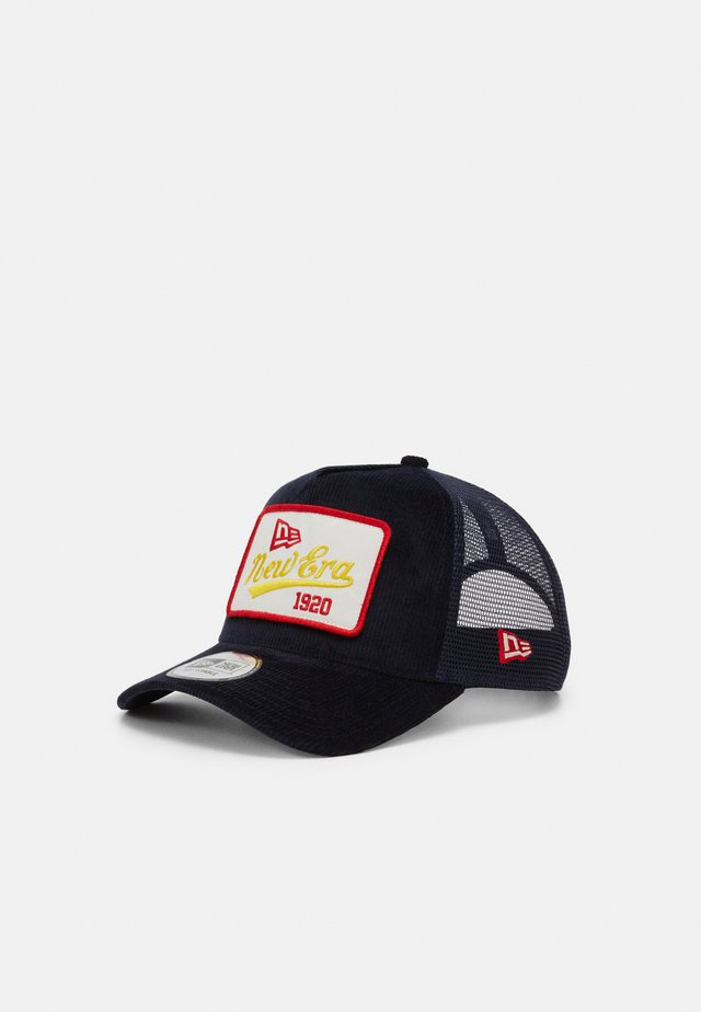 FABRIC PATCH TRUCKER UNISEX - Cappellino - navy
