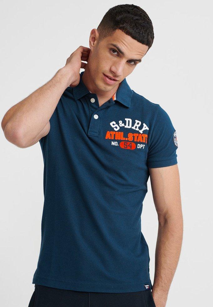 Najlepszy sprzedawca Gorąca wyprzedaż Superdry CLASSIC SUPERSTATE  - Koszulka polo - mid blue | Odzież męska 2020 1JrRo