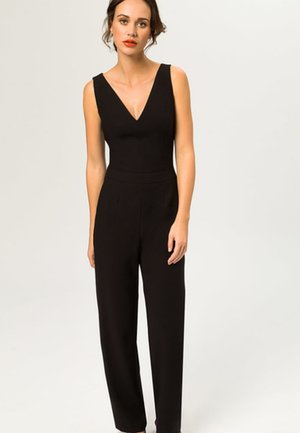 V NECK - Jumpsuit - black