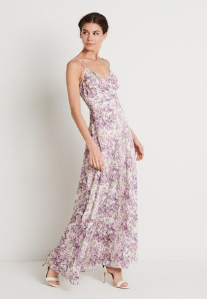 V-NECK FLOWY DRESS - Vestito lungo - purple