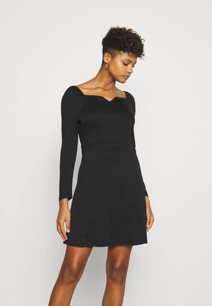 VITINNY SWEETHEART NECK DRESS - Shift dress - black
